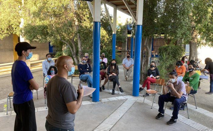 Cabildo por el Barrio y el Medio Ambiente en el Colegio San Alberto. Foto CSA
