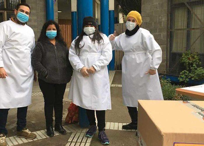 Danos una mano: parte de la campaña adelantada por el Colegio San Alberto. Foto CSA